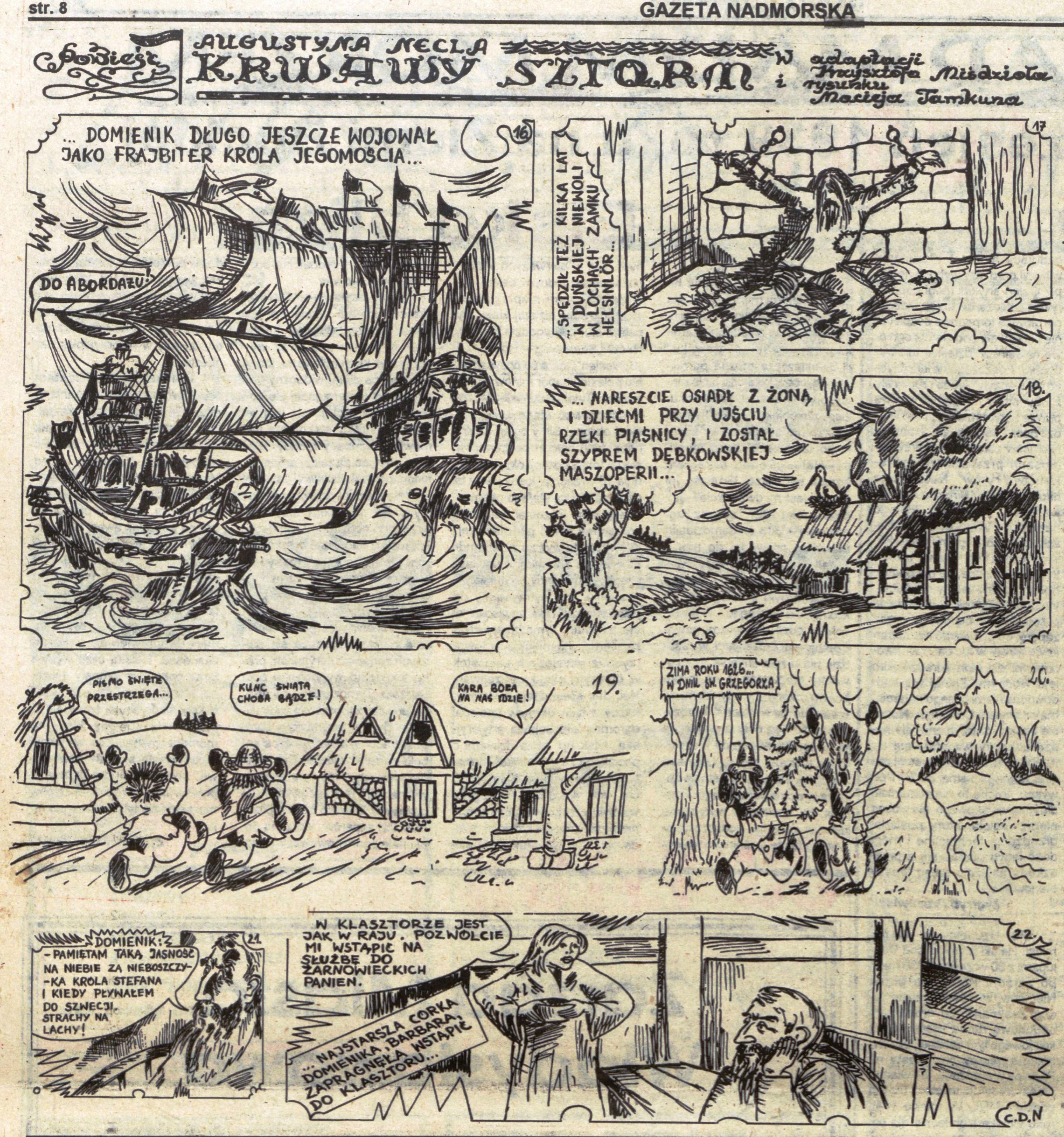 Krwawy Sztorm Augustyn Necel komiks